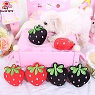 Hondenspeeltje Huisdierspeeltjes kauwspeeltjes Pluche speelgoed piepen Fruit Textiel Zwart Rood