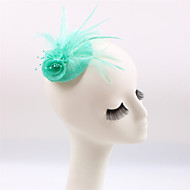 Handmade Small Sinamay Feather Pearl Brooch Fascinators (more colors)