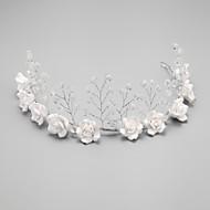 Mulheres Menina das Flores Crostal Liga Imitação de Pérola Capacete-Casamento Ocasião Especial Bandanas 1 Peça