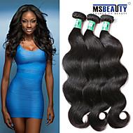 """3 peças / lote 8 """"-30"""" virgem onda do corpo cabelo malaio do cabelo trama de 100% cabelo humano remy não transformados tece"""