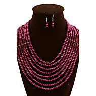 Women Vintage/Party/Work/Casual Alloy/Imitation Pearl/Acrylic Necklace/Earrings Sets