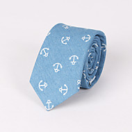 Printed Blue Anchor Skinny Tie