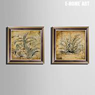 E-HOME® Framed Canvas Art, A Plant Framed Canvas Print Set of  2