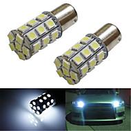lorcoo ™ 2ks BAY15d 1156 27 SMD 5050 LED auto ocas brzdové zastavení směrové světlo bílé 12v