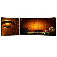 star®buddha visivo tre pannelli su tela stampa di alta qualità su tela
