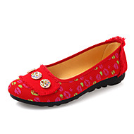 Women's Shoes Fabric Flat Heel Platform/Comfort/Round Toe/Open Toe Flats Outdoor/Office & Career/Casual Blue/Red/Gray