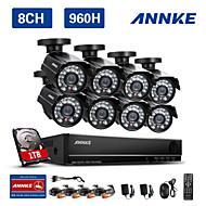 ANNKE HDMI 8CH 960H Network DVR 800TVL IR Outdoor CCTV Security Cameras System