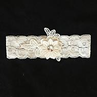Garter Lace Flower Ivory