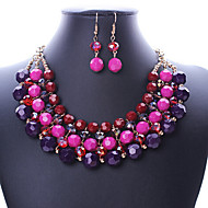MISSING U Women Vintage / Party Alloy / Rhinestone / Resin Necklace / Earrings Jewelry Sets