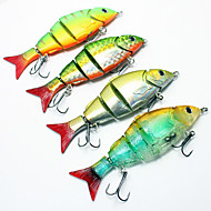 M&X Hard Bait Four-section Minnow Crankbait 120mm/20g 4Pcs Fish Hook Fishing Tackle Fishing Lure Set