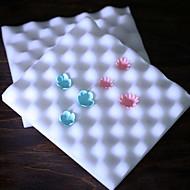 bølgeformede kake dekorert skum pad Sugarcraft modellering pad blomst mold verktøyet sett med 2