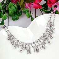 Fashion Tassel Shape Metal Ankle Chain(Silver)(1Pc)