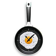Wandbehang Pfanne förmige Uhr mit Omelette (gelegentliche Farbe)