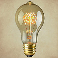 Pure Cupper Lamp Cap Retro Vintage E27 Artistic Filament Bulb Industrial Incandescent Light Bulb 40W