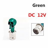 Vehicle Car Tone Skull Head Design Cigarette Lighter Plug DC 12V