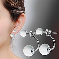 Oorbel Druppel oorbellen Sieraden 2 stuks Verzilverd Dames Zilver