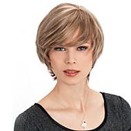 Short Straight Human Hair Capless High Quality Virgin Remy Mono Top Wigs
