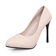 Women's Shoes Leatherette Stiletto Heels / Closed Toe Heels Wedding / DressBlack /Nightclub Pointed Heel Shoes
