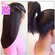 volle Spitze-Menschenhaarperücken peruanisches reines Haar yaki gerade glueless volle Spitzeperücke 8 '' - 24 '' für schwarze Frauen