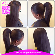 "Yaki Straight Brazilian Human Hair Wigs Brazilian Virgin Hair Light Yaki Lace Front Wig Rosa Hair Wigs 8""-24"""