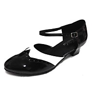 Chaussures de danse(Bleu Blanc) -Personnalisables-Talon Personnalisé-Similicuir Cuir Verni-Chaussures de Swing