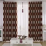 Dois Painéis Tratamento janela Moderno Sala de Estar Poliéster Material Blackout Cortinas cortinas Decoração para casa For Janela