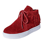 Women's Shoes Low Heel Round Toe Fashion Sneakers Casual Black/Red/Gray