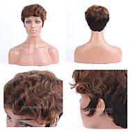 Premierwigs Double Tone Short Curly Capless Brazilian Virgin Human Hair Wigs For Black Women