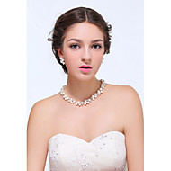 Women's Silver / Alloy Jewelry Set Imitation Pearl / Rhinestone
