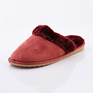 ROAD SWIFT®Women's Casual Shoes, Fleece/Flat Heel, Slippers / Round Toe / Closed Toe Slippers Shoes, Brown / Red