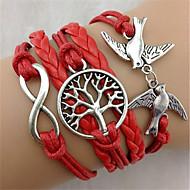 Lederarmbänder Einzigartiges Design Modisch nette Art Schmuck Rot Schmuck Für Party Weihnachts Geschenke 1 Stück