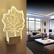Acrylic Wall Lamp PVC Lamp Light Chip LED / Bulb Included Modern/Contemporary Metal 220V  5㎡-10㎡  L18.5**H25.5*W5CM  5W