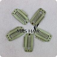 32mm Extensions T Style Clip Medium Size Blonde Colour DIY Weft Clip for Clip ins 100pcs a Lot