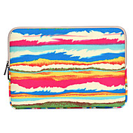"""Sleeve for Macbook 13"""" Macbook Air 11""""/13"""" Macbook Pro 13""""/15"""" MacBook Pro 13""""/15"""" with Retina display Stripes Canvas Material Abstract Rainbow"""