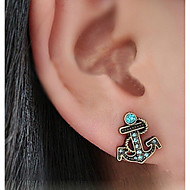 Anchor Diamond Earrings(1pair)