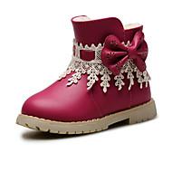 Boty-Koženka-Pohodlné / Kulatá špička / Uzavřená špička / Módní boty-Dívčí-Modrá / Růžová / Červená-Svatba / Outdoor / Šaty / Běžné