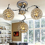 Max40W Flush Mount ,  Modern/Contemporary Electroplated Feature for Crystal Metal Bedroom / Dining Room / Hallway