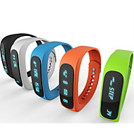 E02 Sport Bluetooth rannerengas fiksu katsella terve ranneke aika / Soittajan / hälytys / askelmittari nukkua näytön iOS Android-