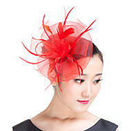 Veren/Polyester Vrouwen Helm Bruiloft/Speciale gelegenheden/Casual/Outdoor Fascinators Bruiloft/Speciale gelegenheden/Casual/Outdoor1