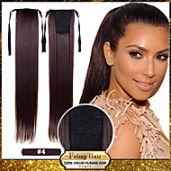 HOT Selling 22inch 55cm 100g/pcs Medium Brown (#4) Fashion Ponytail Hairpieces Braid Straight Synthetic Ponytail