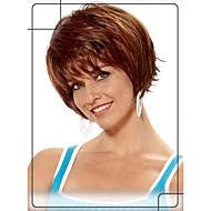 charmerende korte bølget menneskelige hår uden dæksel parykker jomfru remy mono top hår paryk