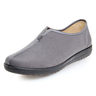 Women's Shoes Fabric Wedge Heel Wedges/Round Toe Loafers Outdoor/Office & Career/Casual Black/Yellow/Gray