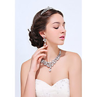 Women's Silver / Alloy Jewelry Set Rhinestone