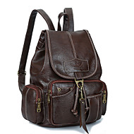 Women PU Casual / Outdoor Backpack / Travel Bag Gold / Brown / Black