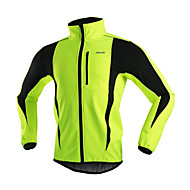 Arsuxeo Men's Fleece Jacket Warm Winter Thermal Bicycle Cycling Running Windproof Jacket
