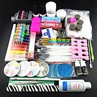 77PCS Acrylic Powder Brush Pigment  Nail Set