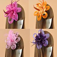 Coiffure / Fleurs / Chapeau / Pique cheveux Casque Mariage / Occasion spéciale / Casual / Outdoor Plume / Tulle FemmeMariage / Occasion