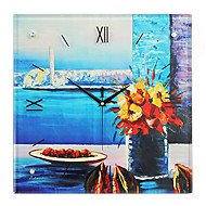Modern Style Creative Painting Outlook Mute Wall Clock