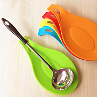 Attractive Silicone Spoon Insulation Mat Placemat Drink Glass Coaster Tray (Random Color)