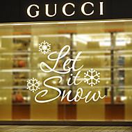 Window Stickers Window Decals Style Let It Snow English Words & Quotes PVC Window stickers